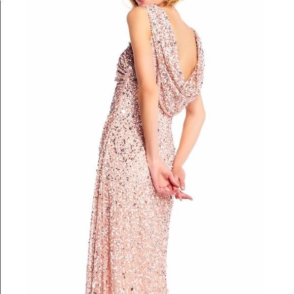 Adrianna Papell Dresses | Blush Pink Sequin Dress Size 8 | Poshmark